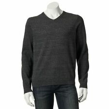 "SONOMA V-Neck Men's Knit Sweater ""Iron Gray""  Size XL New Tags 100% cotton Light"