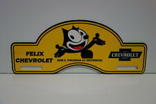 "FELIX CHEVROLET LARGE License Plate Topper 4"" High 10"" Wide!"