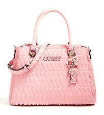 GUESS Brinkley Triple Satchel Pink, Women's Bag Handbag with Handles