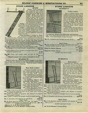 1932 PAPER AD Myers' Milbradt's Store Library Rolling Ladder Ladders