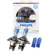 Philips WhiteVision 2x H4 12V 60/55W P43t + 2x W5W xenon effect Birne Lampe