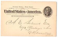 1890~PREPRINTED ADV POSTAL CARD~C HORTON SMITH~McCURRACH MEN NECKWARE~CHICAGO,IL