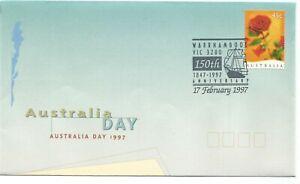 1997 Australia Day ⁑ 150th Anniversary Warrnambool 1847 ⁘ 1997 'Pmk' ~ Cover