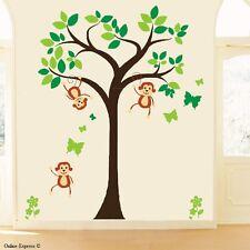 Monkey Tree Nursery Wall Zoo Animal Stickers Decal Boy Baby Children Kid Bedroom