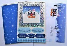 Kanban Cute Penguin Christmas Die Cut Foiled Toppers,Card, Insert Kit 54378