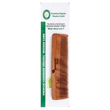 1 PCS Pure Neem Organic HandmadeComb Hair Brush Home Travel Narrow Teeth Unisex