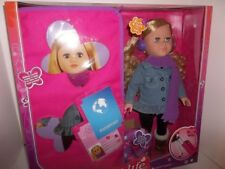 """My Life as a World Traveler 18"""" Blonde Doll with Travel Case and Accessories NEW"""