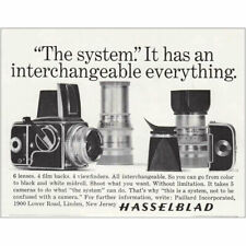 1965 Hasselblad Camera: The System, Interchangeable Vintage Print Ad