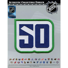 2020 Vancouver Canucks 50th Anniversary Logo Jersey Patch Blue & Green Version