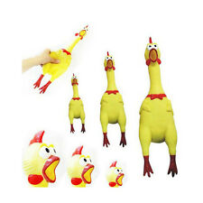 1pc Cute Yellow Screaming Shrilling  Rubber Chicken Sound Pet Dog Toys Kids oy