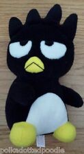 Sanrio Black White & Yellow Badtz Maru stuffed penguin bird 1998 Germany/China