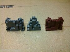 LOT OF 3 LEGO ROCK WALL BRICKS USED