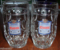 Kronen Classic Glass  Beer Steins /  Mugs ~ .25 L ~ SWEET! ~ Fast Shipping!