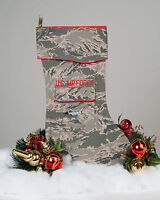 U.S. Air Force Christmas Stocking - F-16- ABU Camouflage Fabric by Camosock
