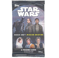 Topps Trading Cards - STAR WARS Rogue One: Mission Briefing - PACK (6 cards) New