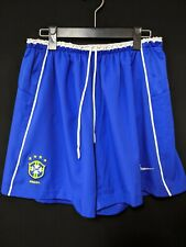 2002 Brazil National Team Home Football Shorts Soccer Size:L 4 star