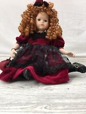 "Seymour Mann Connoisseur Collection 11"" Victorian Style Doll Porcelain Red Hair2"