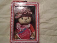 VINTAGE Strawberry Shortcake Plush Doll in Tin Box 2003 by Urban Station