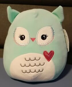 "Squishmallows Valentines Imogene The Pale Blue Owl 8"" Kellytoy 2021 New"