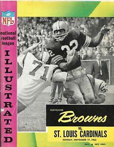 1963 Cleveland Browns-Cardinals Program Cards Upset Browns!!