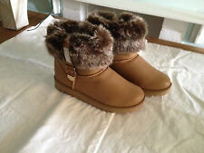 Womens- Ladies- Designer- Diamante - Boots- Camel -688 - Size 5