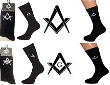 12 x PAIRS of Freemasons Masonic Black Socks UK shoe size 5-12 (X6M/G)