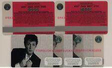 PAUL McCARTNEY Starbucks Card 2007 Old logo - NEW Rare Never Used (bid Is For 1)