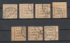 Lithuania Kaunas 1919 Mi 20-26, Used