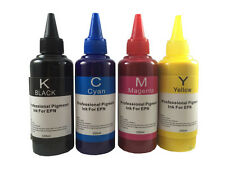 4x100ml Pigment Refill Ink for HP Refillable Cartridges/CISS