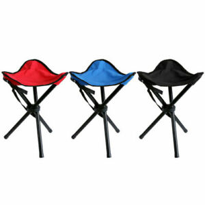 metagio 1 Pack Portable Folding Stool Outdoor Camping Folding Chairs Fold Up Lightweight Camp Aluminium Stools Seat for Camping Fishing Picnic Travel and Hiking