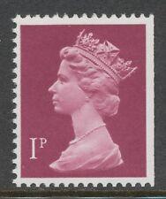 GB 1978 Machin 1 P FCP/PVAD CB Head Type II crimson U/M VARIETY MISSING PHOSPHOR