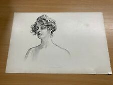 1902 CHARLES DANA GIBSON ANTIQUE LARGE DOUBLE-SIDED PRINT GIBSON GIRL #21