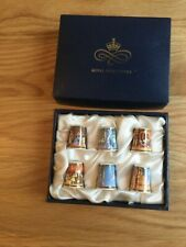 More details for royal worcester thimbles - ballet series - boxed set of 6