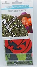 Halloween Stick-On Pockets Skeleton Pumpkin Black Cat 12 pcs Paper House Sticker