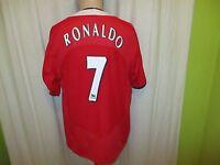"Manchester United Nike Heim Trikot 2004-2006 ""Vodafone"" + N.7 Ronaldo Gr.XL TOP"