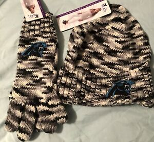 Touch by Alyssa Milano Carolina Panthers Hat and Gloves NWT