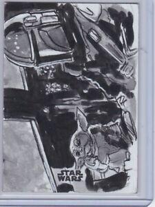 2020 Topps Star Wars The Mandalorian The Child Grogu Din Sketch Card Dan Gorman