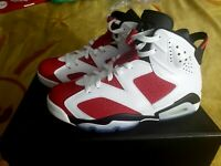 2014 SIZE 8 JORDAN RETRO 6 CARMINE UNWORN WITH RECEIPT
