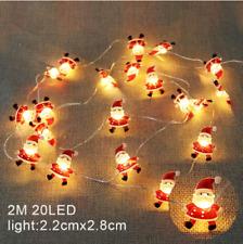2M 20LED Santa Claus Snowflake Tree LED Light String Christmas Decoration For Ho