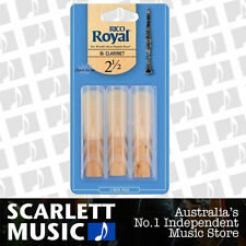 Rico Royal Bb Clarinet Reed 3 Pack Reeds Size 2.5 ( 2 1/2 / Two and a Half ) 3PK