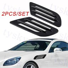 2pcs Auto Door Side Fender Trim Simulation Air Vent Inlet Front Grille Accessory