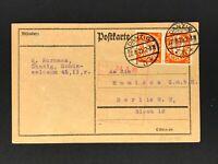 Danzig Postkarte MeFr. 22.8.1925 nach Berlin
