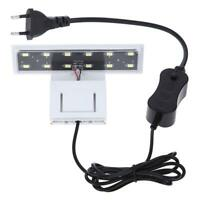 Plants Grow Clip-on LED Aquarium Light with EU Plug for Coral Reef Cabin Glass