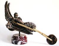 Biker Original Sculpture Material Bronze Pedestal Natural Stone Free Shipping