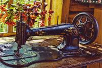 Antique sewing machine by Zhukov Window Russian Modern Postcard