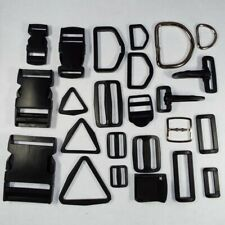Plastic Metal Webbing Strap Fitting Buckle D Ring Clip Slider 20 25 38/40 & 50mm