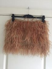 Gorgeous Topshop Gold Feather Boutique Skirt UK 10 Worn Once