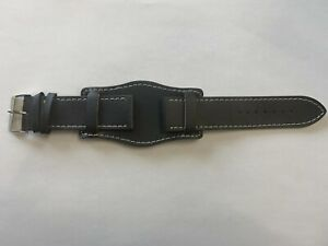 Genuine Leather Military Cuff Watch Straps. Various Sizes & Colours
