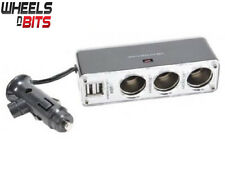5 Vie 12V o 24V 3 Way CAR LIGHTER Multi Socket TWIN 5V PORTE USB CARICABATTERIE Adapte