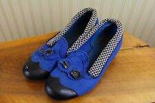 Vintage 40s JC Penney Wool Felt Womens 6 Rockabilly 2 Tone Shoes